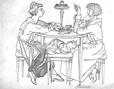 Maria Pawlikowska-Jasnorzewska. Sisters gossip. c.1920.
