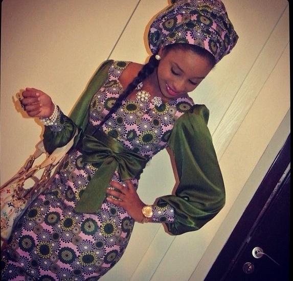 Ankara long sleeve dress