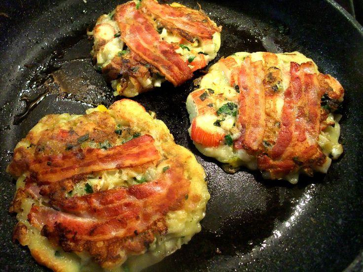 "Osaka-style Japanese okonomiyaki pancakes- a savoury, hearty, Japanese ""what yo"