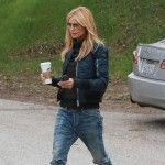 Heidi Klum was spotted heading to her children's soccer game in Brentwood, California. The supermodel wore yet another pair by her favorite brand, Citizens of Humanity. She chose their Corey Straight Leg in Outpost to