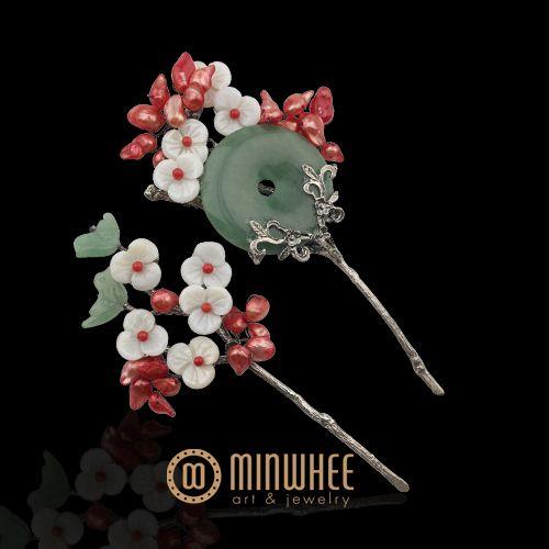 장옥정, 자개꽃과 비취 머리꽂이 - 고품격 수공예 주얼리 민휘아트주얼리 MINWHEE ART JEWELRY