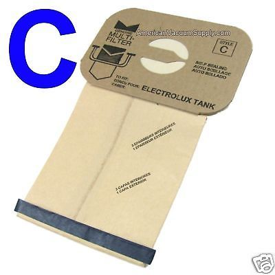 Vacuum Cleaner Bags 20618: 100 Bags For Electrolux Canister Vacuum Style C ~ 4 Ply -> BUY IT NOW ONLY: $35.32 on eBay!