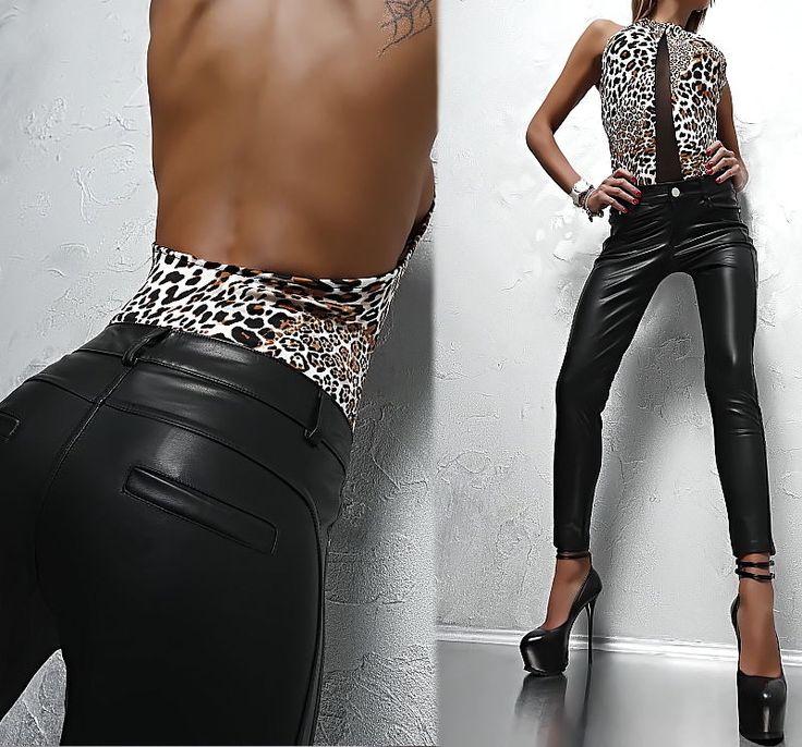 25 beste idee n over damen leggings lederoptik op pinterest. Black Bedroom Furniture Sets. Home Design Ideas