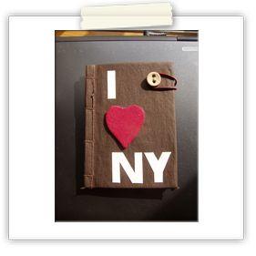 I love NY  hand-made notebook