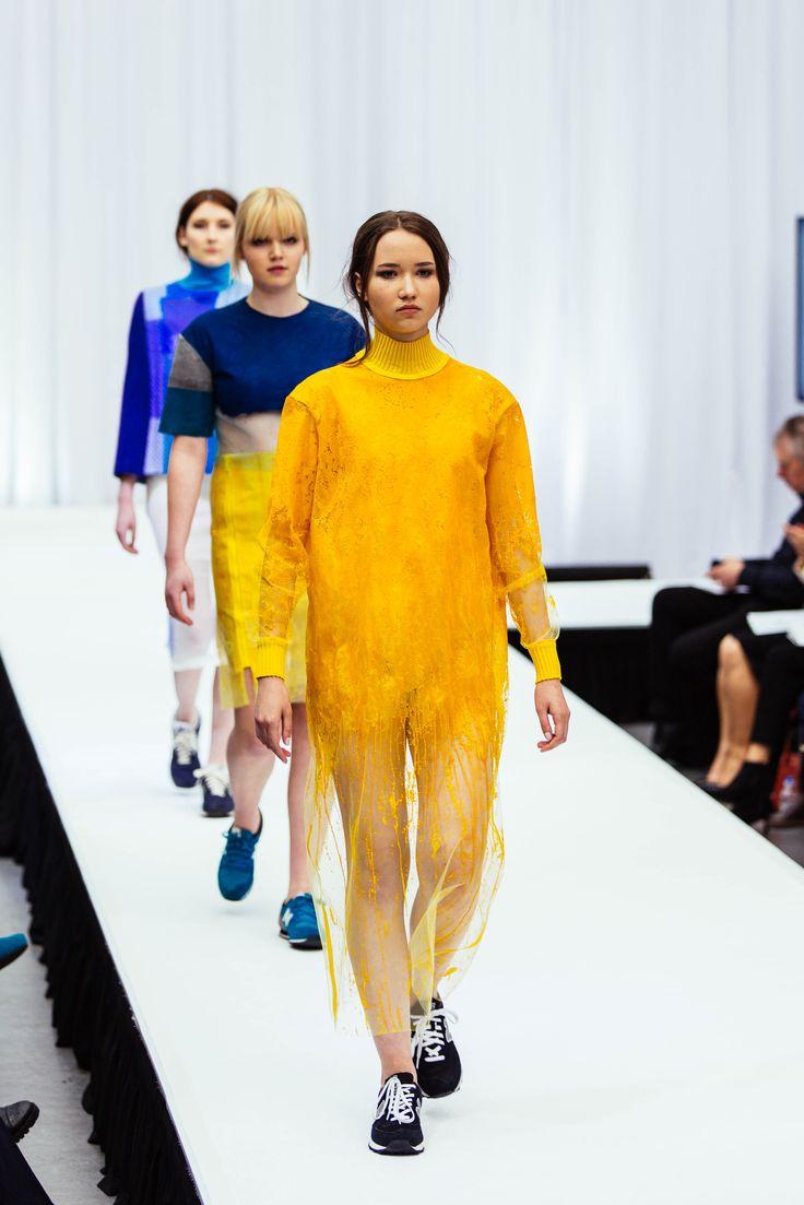 Rachel Mack Textiles for Fashion, Colour, Latex Knit, knitwear. Gray's School of Art, RGU, Robert Gordon University, Fashandtexatg