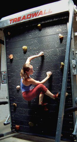 We NEED one of these. It's a climbing treadmill. A never-ending climbing wall in your own home! AHH-MAZING!