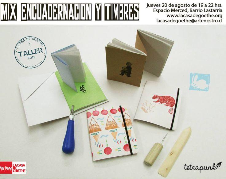 En Agosto! Tres tipos de encuadernación de bolsillo + confección de timbres de goma. En Espacio Merced. + info en www.lacasadegoethe.org