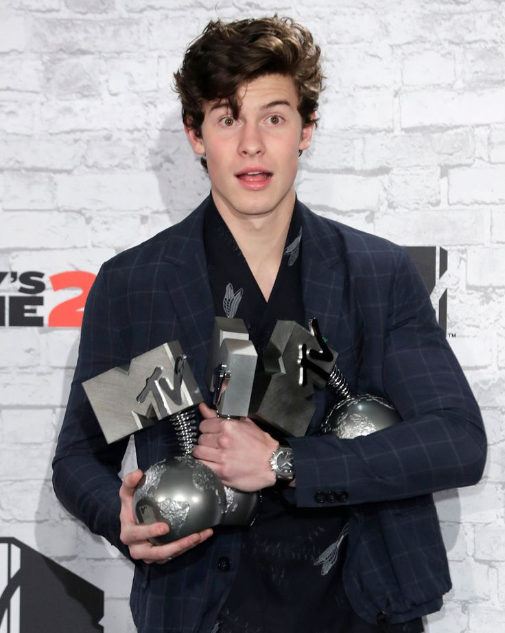Shawn at the MTV EMA Press Room