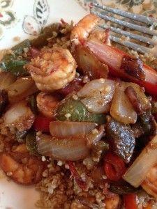 Easy shrimp stir fry with quinoa...SO GOOD
