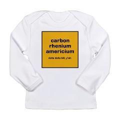 cream chem long sleeve infant t-shirt > $16.99US > babybitbyte (cafepress.com/babybitbyte) #cafepress #babybitbyte #wutangclan #wu #wutang #odb #rza #ghostface #methodman #dolladollabillyall #cream #chemistry #chemist #periodictable #chemlab #chem #nerd #nerdy #geek #geeky #nerdhumor #geekhumor #rap #hiphop #brooklyn #brooklynzoo #zu #carbon #rhenium #americium #chemical #chemicals #science #scientist #itsscience #cash #cashrules #cashruleseverything #cashruleseverythingaroundme