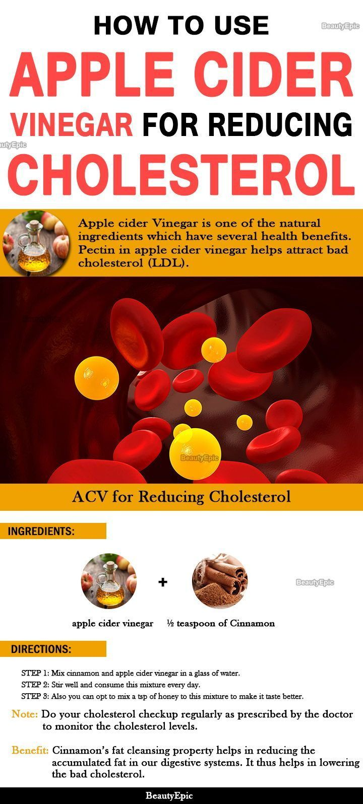 How To Take Apple Cider Vinegar To Lower Cholesterol Apple Cider Vinegar Remedies Apple Cider
