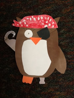 Clearly Kindergarten: Pirate owl glyph with templates.