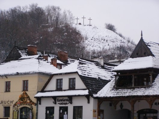 Three Cross Hill, Kazimierz Dolny in the snow
