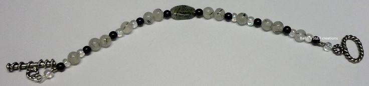 BaRb'n'ShEll Creations-Bracelets, Tourmalinated quartz - BaRb