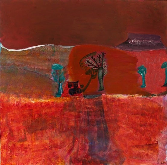 Idris Murphy, Helicopter View with Dry Waterfall The Kimberley, 2012