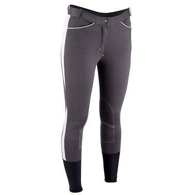 Pantalons Equitation - Pantalon BICO gris foncé /gris FOUGANZA - Habillement du cavalier