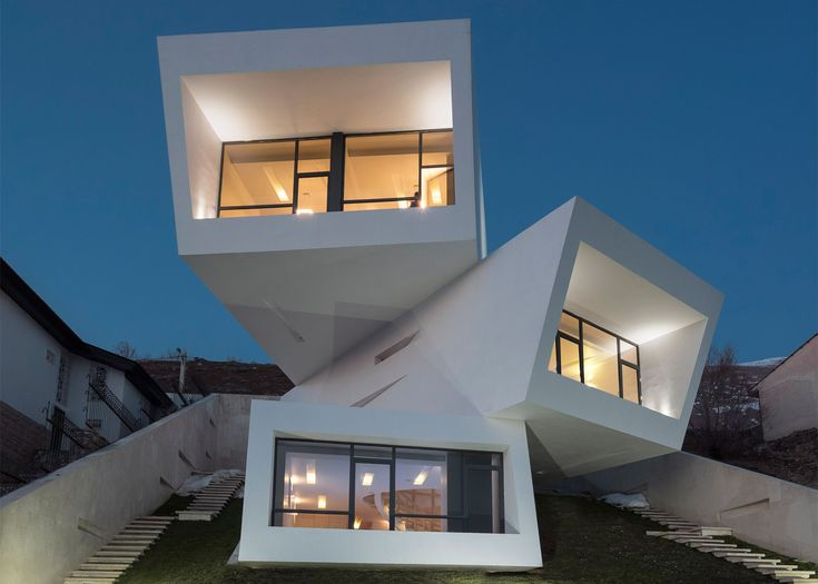 114 best cantilevers images on pinterest architecture contemporary architecture and modern - Modern architectural trio ...