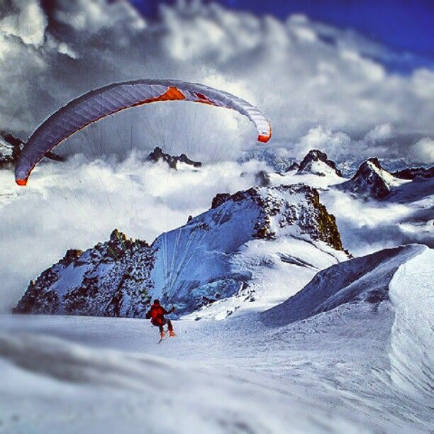 Sail to the summit! #adventure #alpine #ski #paraglider #outdoors #alps #snow #fly #extreme: Real Estate