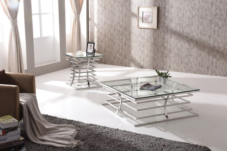 VIG Modrest Snyder Modern Square Glass Coffee Table VGVCCT855