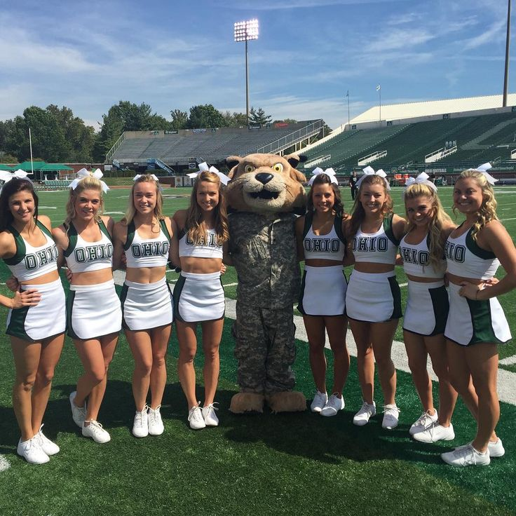 """""""Rufus and the cheerleaders getting set for #HeroesDay at Peden! #BleedGreen"""" September 19, 2015"""