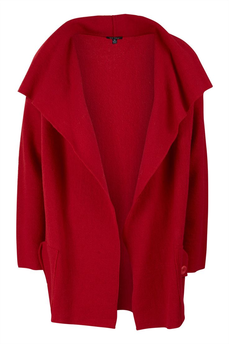 See Saw Collared Two Pkt Boiled Wool Jacket - Womens Jackets - Birdsnest Buy Online