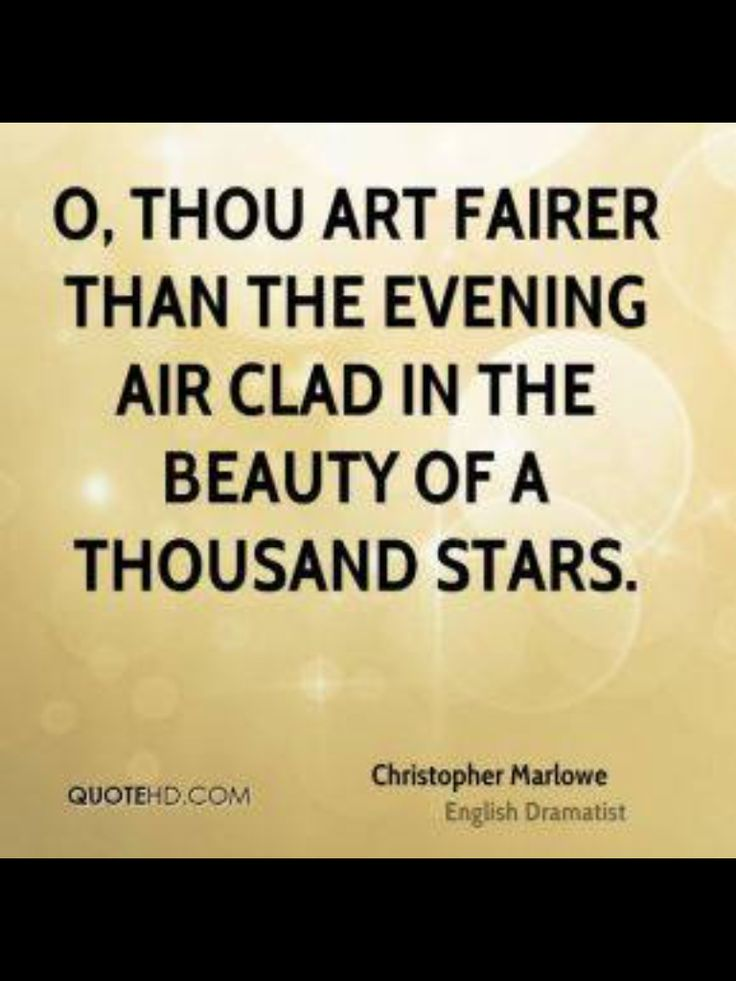 Christopher Marlowe quote.