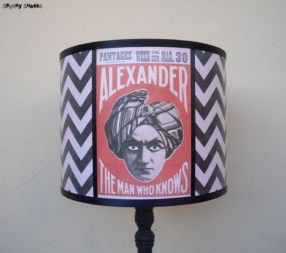 Psychic Reading chevron lamp shade lampshade  by Spooky Shades, €55.90