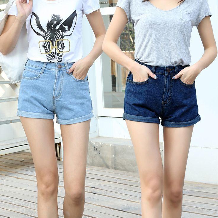 2017 Spring Summer New Fashion Ladies High Waist Denim Shorts //Price: $18.38 & FREE Shipping //     #hashtag3