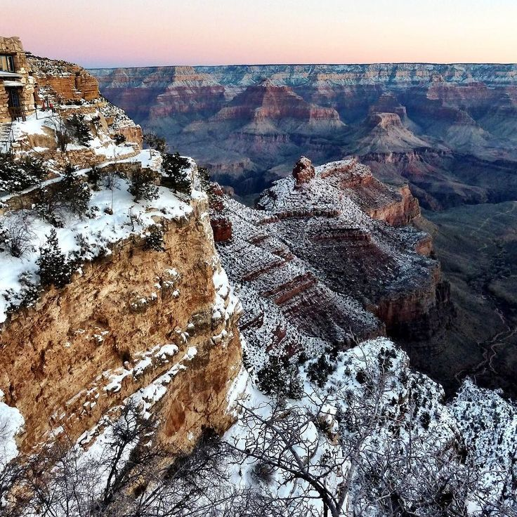 Throwback to the time we went to Grand Canyon in the snow  and it was absolutely magical  - @theglobalcouple on Instagram