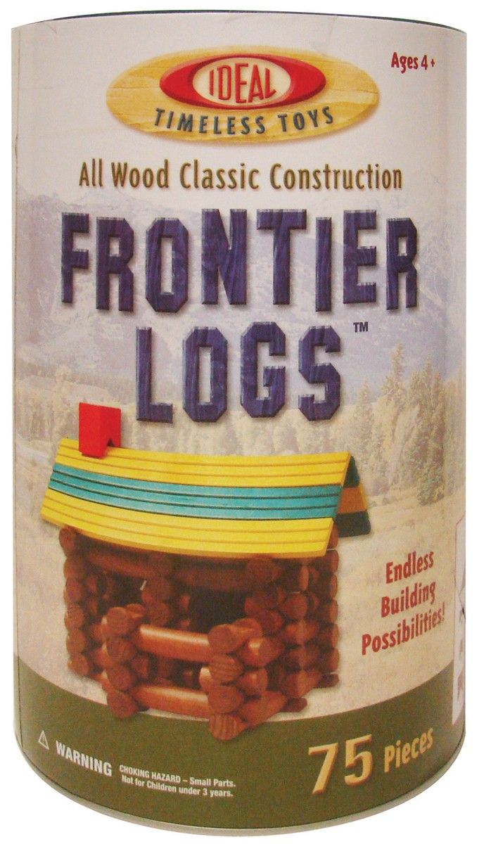 Ideal Frontier Logs. This construction set has durable and colorful logs that make beautiful cabins; houses; or whatever your imagination can create!