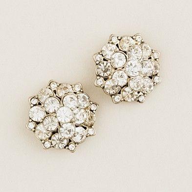 J.Crew Crystal blossom earrings. Love!