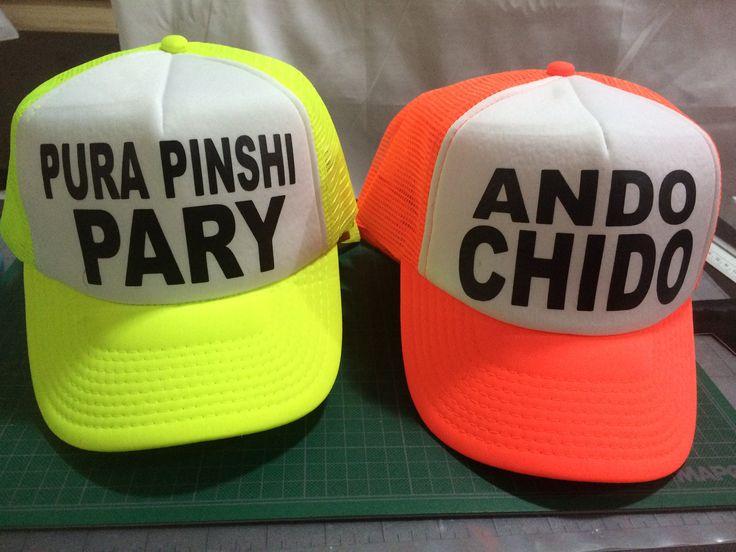 Gorras personalizadas en color neón  by Eatbrains! Campeche