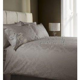 Behrens Damask taupe- lenjerie de pat de lux king size