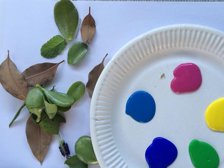 CREATE: Leaf Paintings