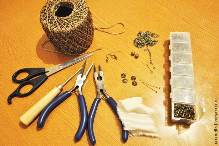 Сверкающие серьги-клубочки своими руками - Ярмарка Мастеров - ручная работа, handmade