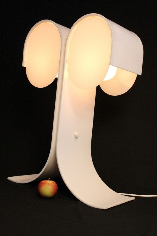 24 in. tall twin head PLASTIC table lamp in the by VINTAGELAMPDEN