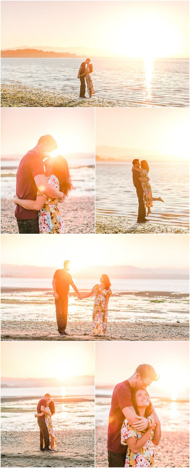 Sunrise engagement session at Iverson Beach in Camano Island, Washington. Camano Island Engagement. Iverson Beach Engagement Session. Sunrise PNW Engagement Session. Sunrise Engagement Session. Photos by Rachel Howerton Photography.