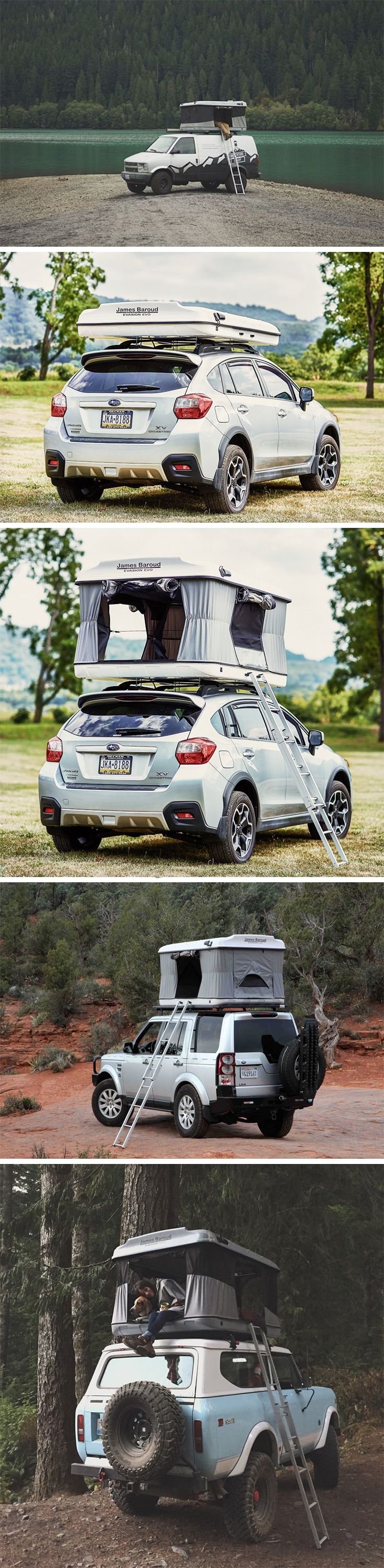 The Evasion Evolution Tent adds a low-footprint high-adventure element to your outdoor trip! Designed like a flat-packed hard mattress that you mount on your SUV or car, the tent opens up through the middle to reveal a cozy space for up to two people on the inside. BUY NOW!