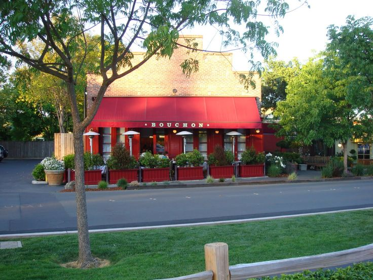 "Great curb appeal and a nice ""Parade Of Gardens"" feel using the power of gardening and some nice planter / flower boxes here at: Pancakes and Paella: Bouchon - Yountville, CA, a Thomas Keller restaurant"
