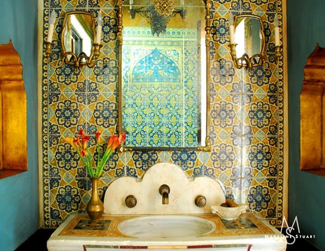 moroccan tiles bathroom influenced bathroom the tiles around the 13762