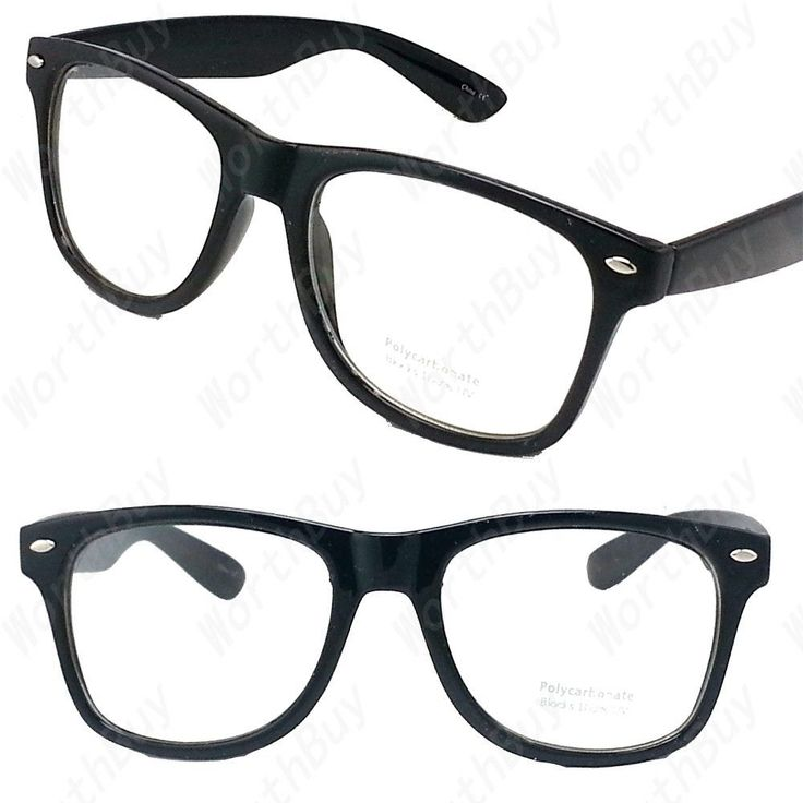 details about clear lens black frame cat eye glasses designer fashion nerd geek mens womens