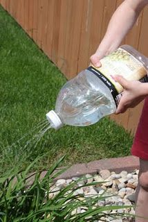 Good idea for watering the garden... especially to get the kids involved.