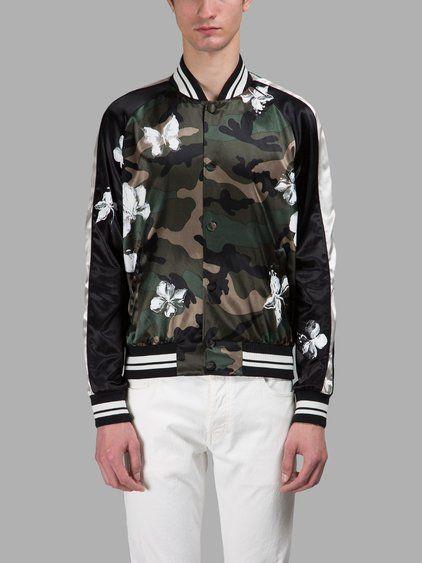 VALENTINO Valentino Men'S Multicolor Bomber Jacket. #valentino #cloth #jackets