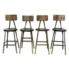 1940's American Industrial stools, more available thumbnail 1