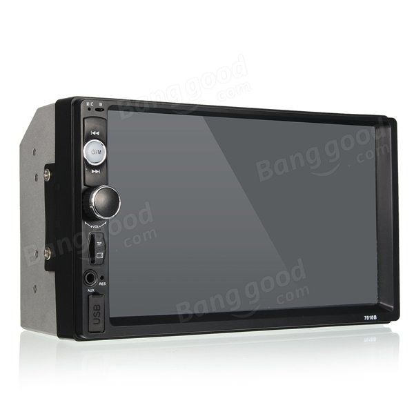 7 Inch Car Stereo Radio MP5 MP3 Player FM USB AUX Full HD Bluetooth Touch Screen Rear View Camera Sale - Banggood.com