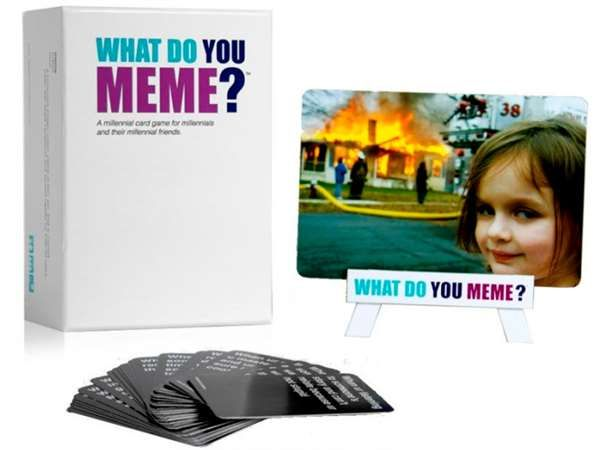 What Do You Meme Kortspill er et morsomt partyspill. Tror du at du har det som trengs for å ut-meme vennene dine IRL? Konkurrer om å lage de morsomste meme'ene ved å parre meme-kort med bildekortet som er i spill. Rundens dommer velger den morsomste kombinasjonen. Spill til dere er sultne og bestiller en pizza, spilleren med flest poeng vinner spillet.Reglene er enkle: Hver runde skal en roterende dommer spille et bildekort mens alle skal bruke det meme-kortet de har på hånden t...