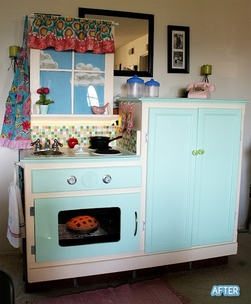 Diy Child S Play Kitchen: 79 Best Kids Play Dresser Upcycle Images On Pinterest