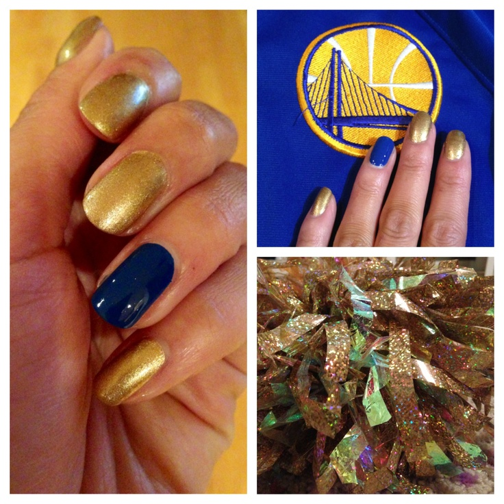 NBA PLayoffs 2013 nails. Go Golden State Warriors! Thanks to Pams & Kin!!