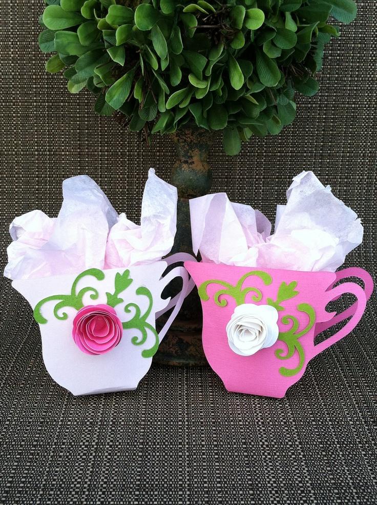 Tea cup party favors set of 12 bridal shower tea party for Teacup party favors
