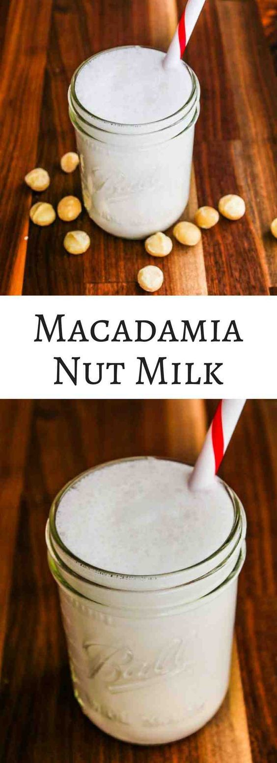 Macadamia Nut Milk - a rich and creamy dairy-free milk that doesn't require any straining. Wonderful in smoothies and creamy pureed soups